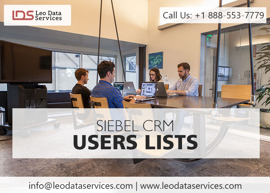 Siebel CRM Users List | Leo Data Services