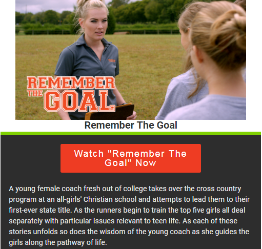 """Remember The Goal"" Movie on Crossflix"