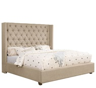 BROOKS BEIGE UPHOLSTERED KING BED