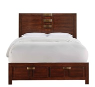 DIPLOMAT CHESTNUT 3 PC KING STORAGE BED Previous product Next product