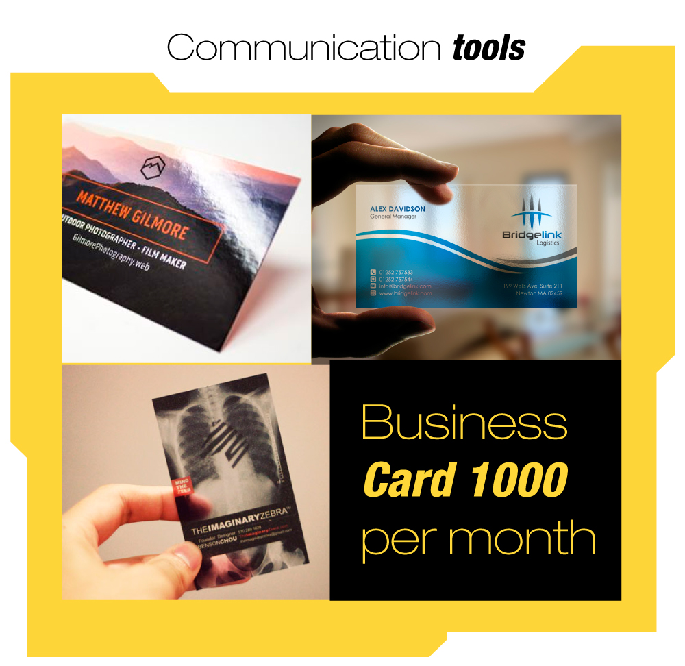 1000 card business, 1000 flyers, 1 roller retractil,
