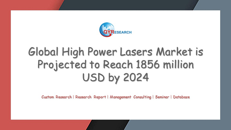 Global High Power Lasers Market is Projected to Reach 1856 million USD by 2024