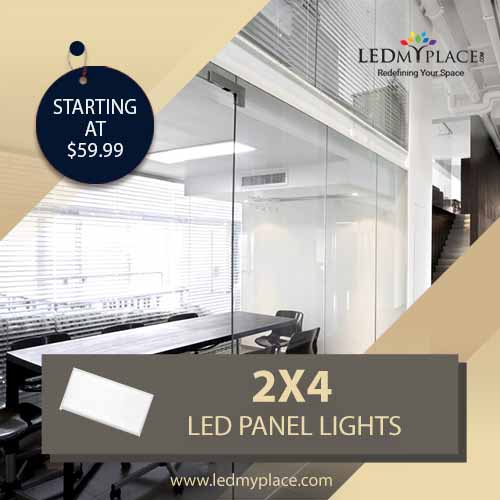 Install 2x4 LED Panel Lights to at your Hotels