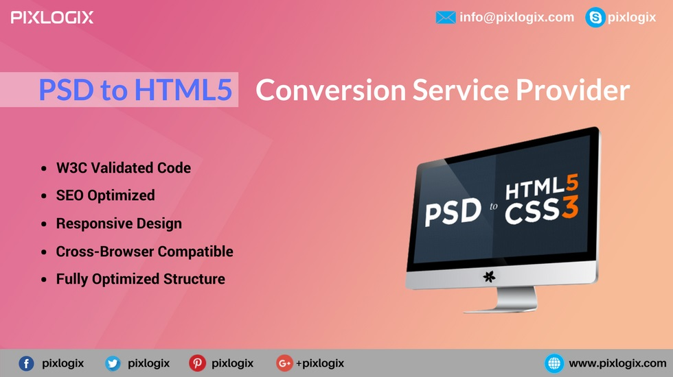 PSD to HTML India| Front-end Development Company