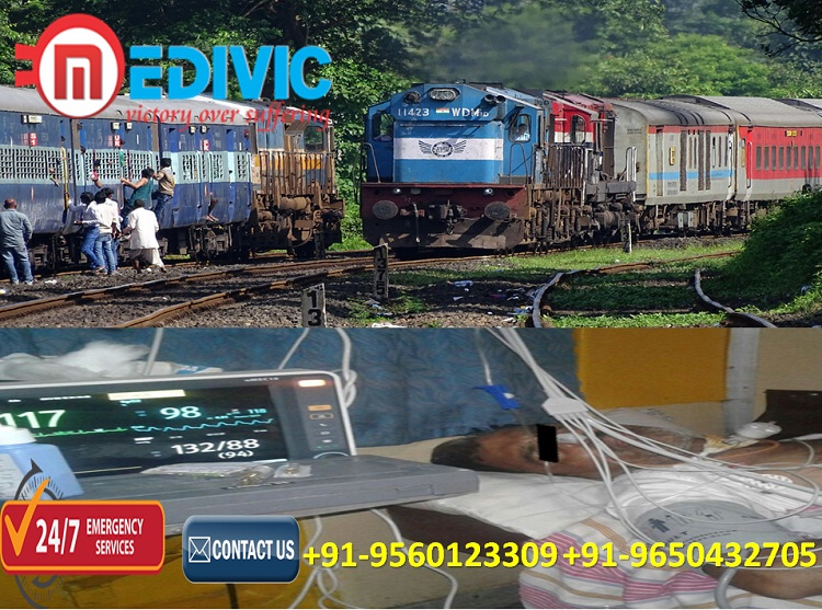 Get Hi-tech ICU Medical Care Train Ambulance in Patna by Medivic