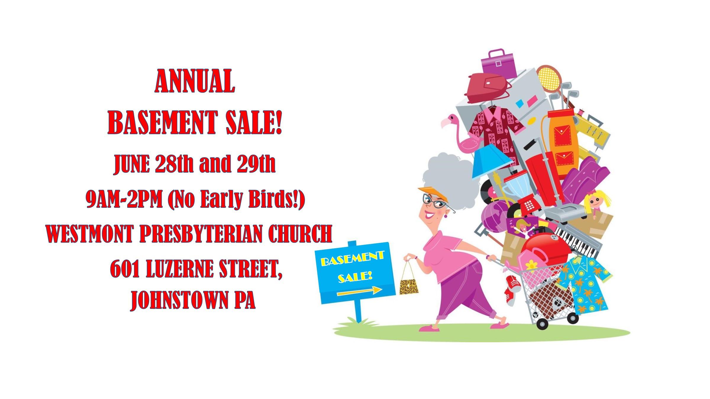 Annual Church Basement Sale
