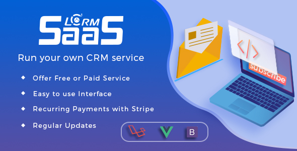 LCRM SAAS - Laravel Framework Run your own SAAS CRM by LCRM