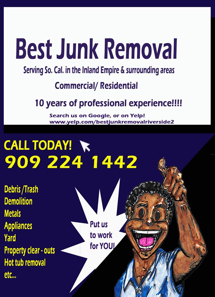 Best Junk Removal in the Inland Empire is here for your needs!