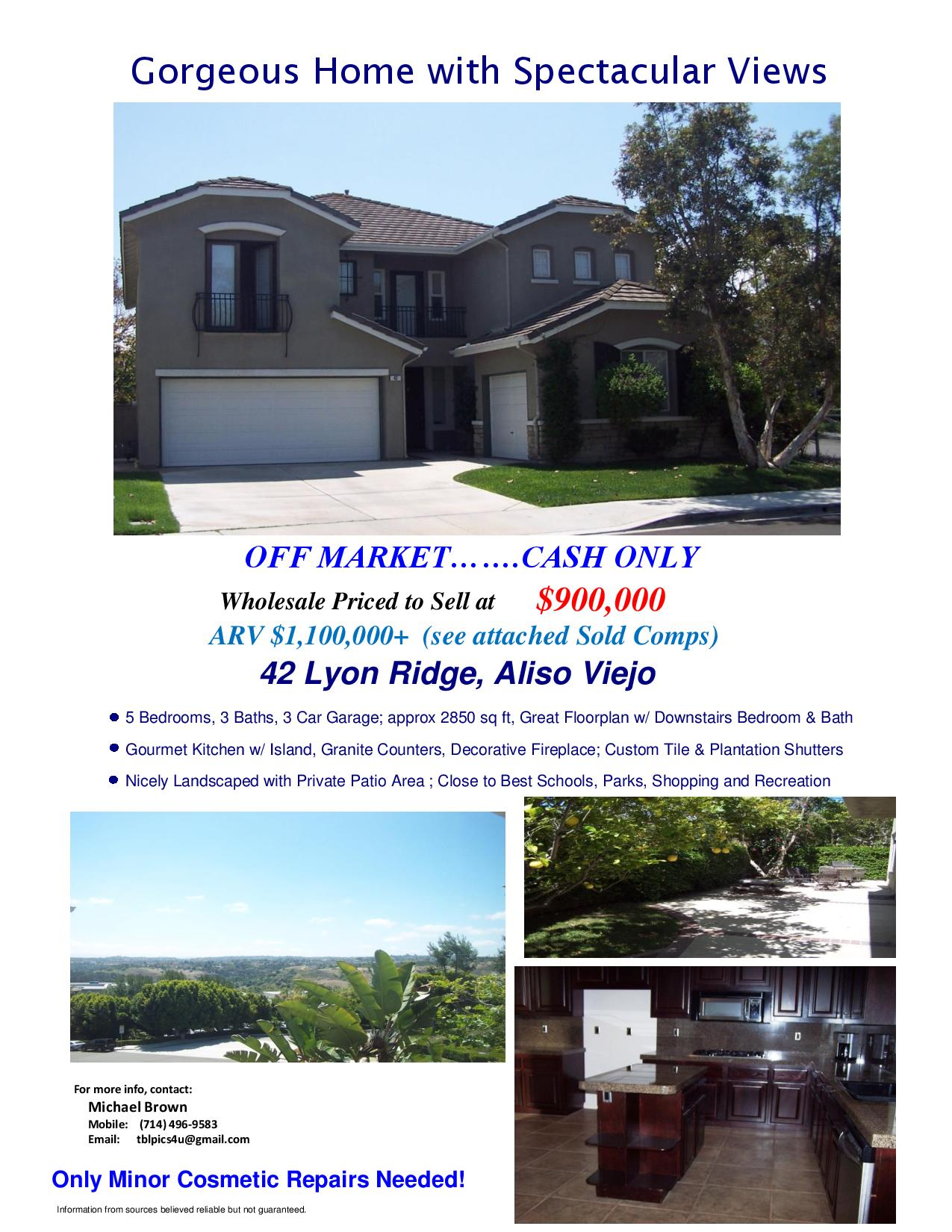 A Gorgeous Off Market Wholesale Opportunity