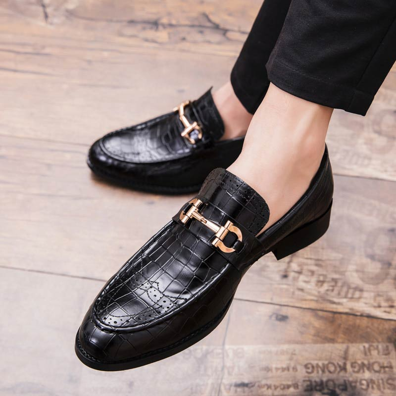Genuine Leather Luxury Pointed Toe Mens Dress Shoes