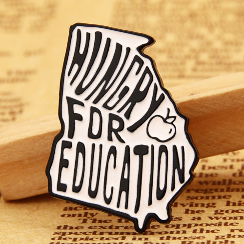 Hungry for Education Lapel Pins from GS-JJ