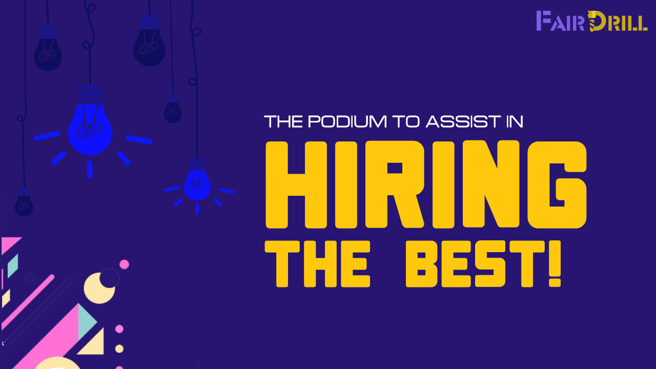 The podium to assist in hiring the best!