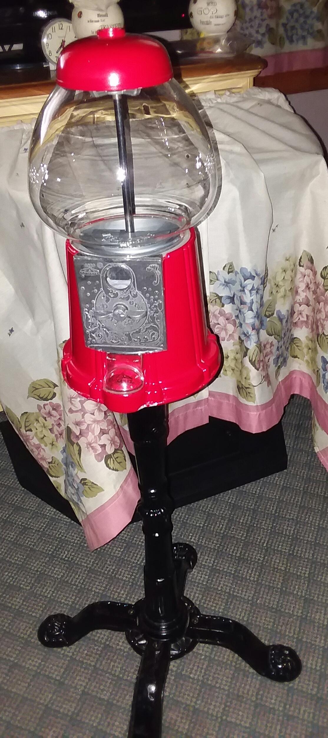Carousel Bubblegum Machine on stand