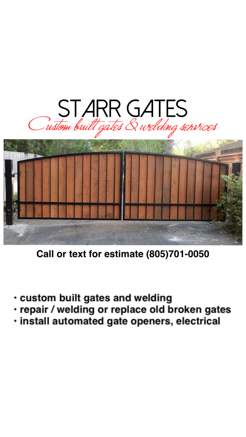 Starr Gates Custom Built Gates, Fencing and Welding Repair Work