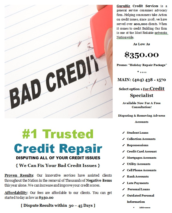 Attention!! Save Thousands with the #1 Trusted Credit Repair Service
