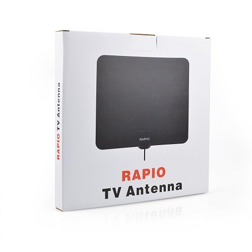RAPIO 50 Miles Range Digital HDTV Amplified Indoor TV Receive