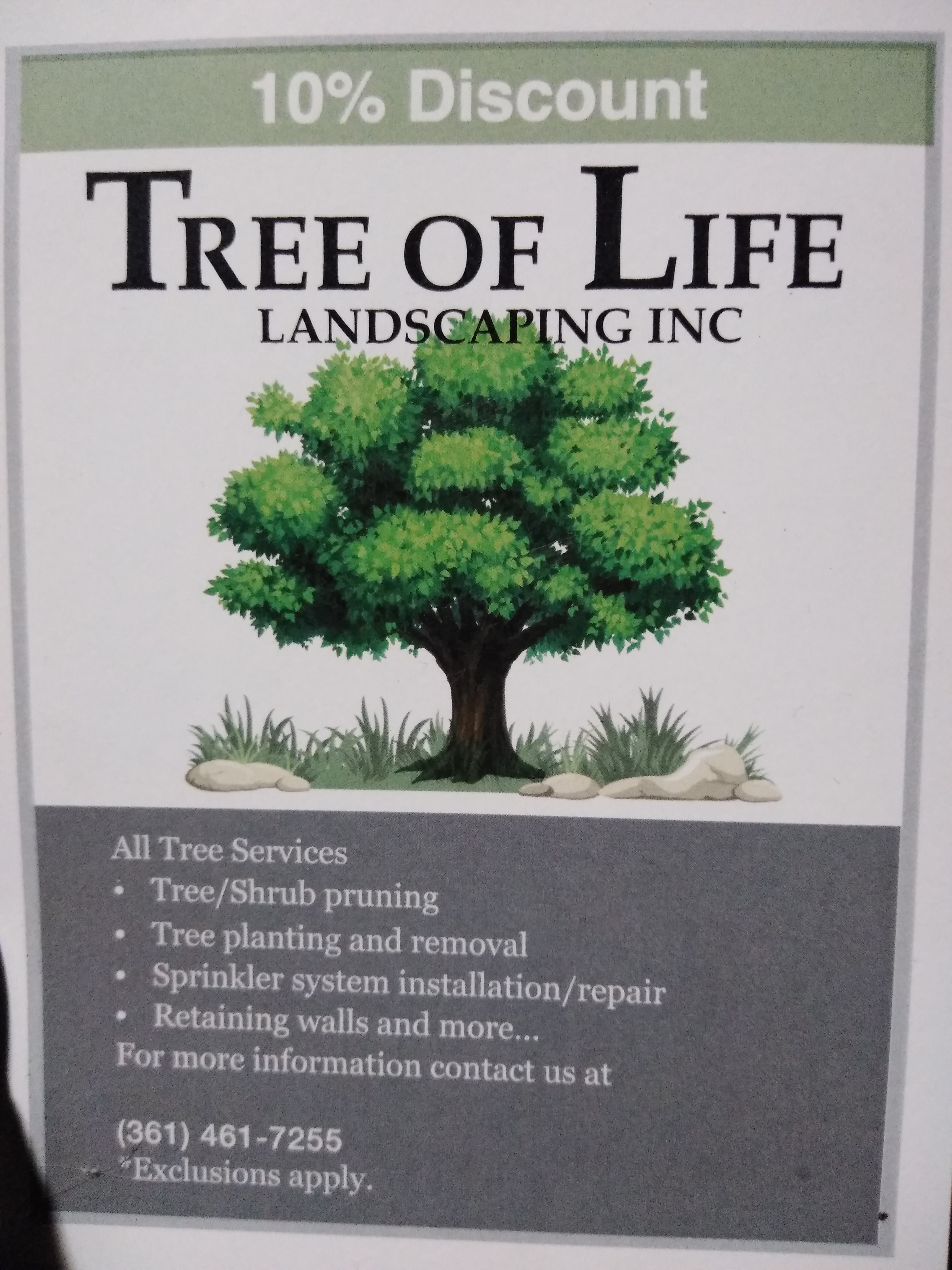Tree of Life Landscaping Inc.