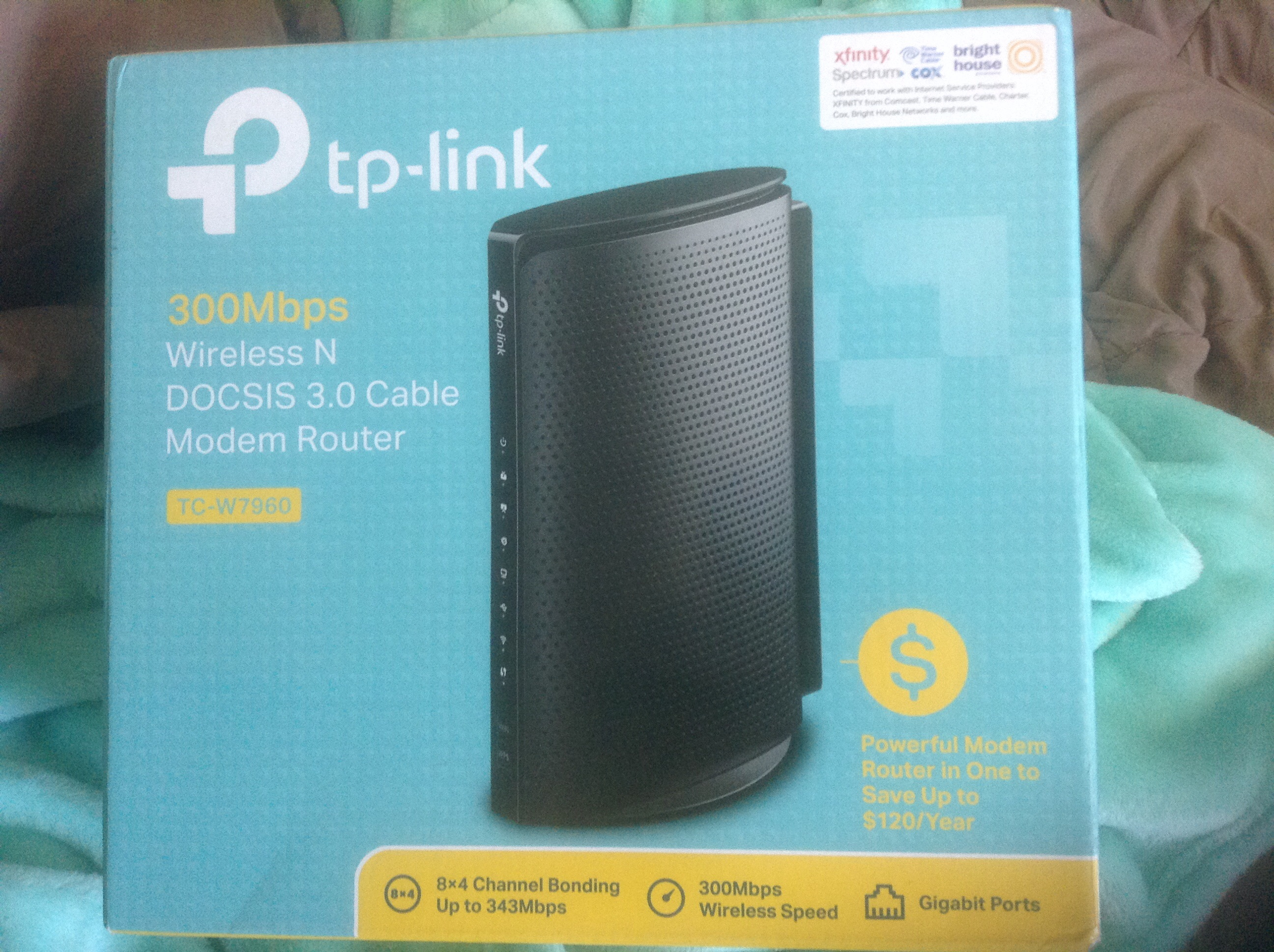 Tp-link 300Mbps  Docsis3.0 Cable Modem Router Unit for use with TWC/Spectrum