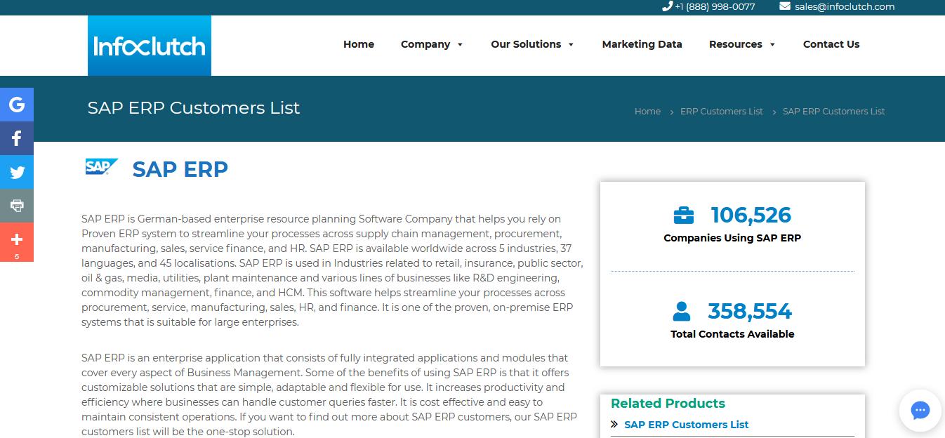 Buy Custom-Built SAP Customers List