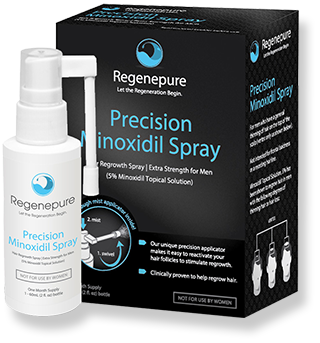 Regenepure Minoxidil Spray 5%- Lets Regrow Hair.