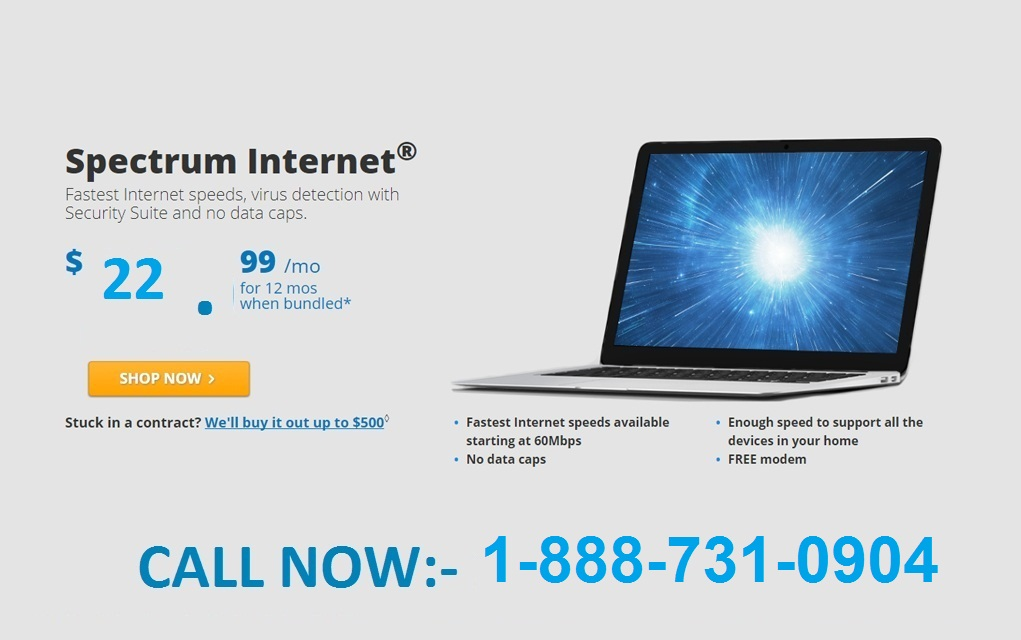 Easily Fast Spectrum Internet get 100 mbps at just $ 22.99