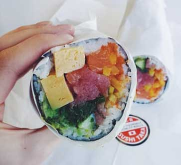 Sushi burritos in san francisco