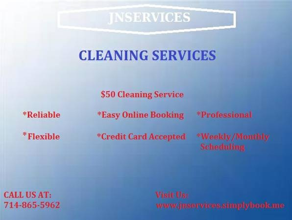 $50 CLEANING/JANITOR/HOUSE CLEANER/KEEPER/MAID/BUTLER