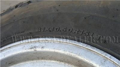 4 KENDA 31X10.50R15 L.T TIRES AND RIM