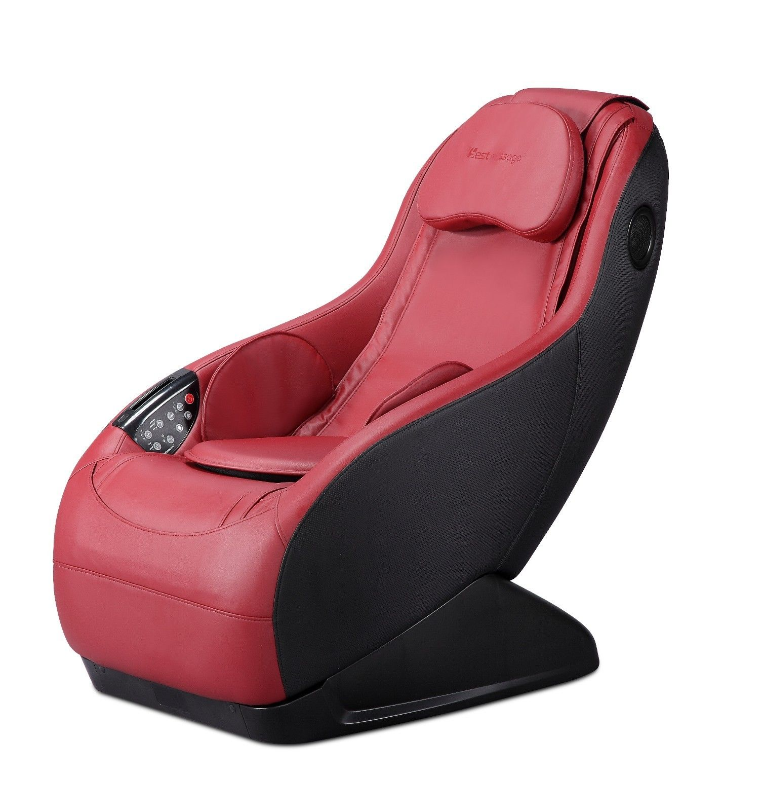 Curved Video Gaming Shiatsu Massage Chair Wireless Bluetooth Audio Long Rail