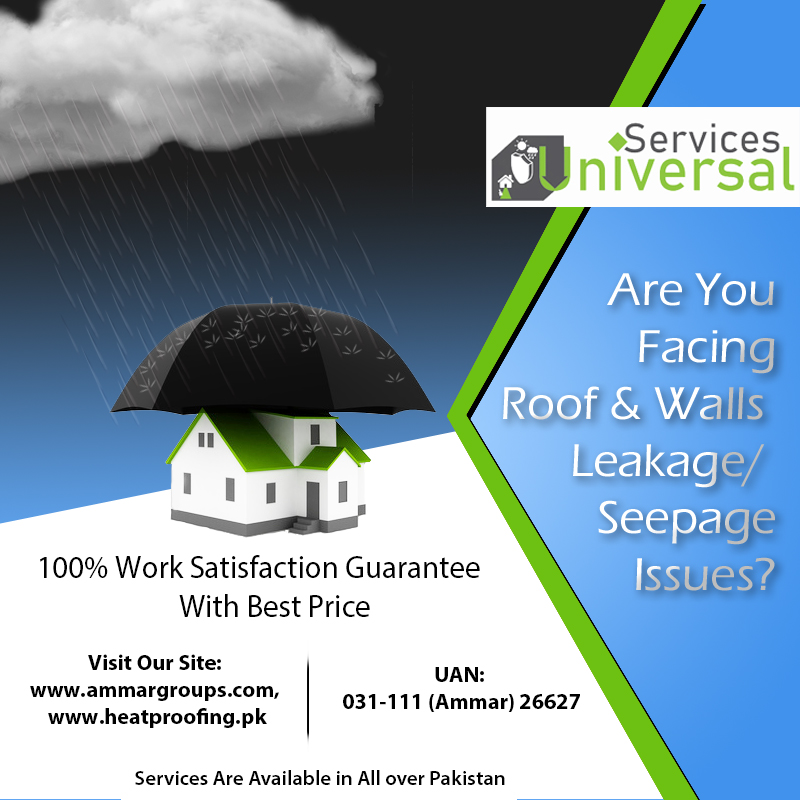 Roof Water Leakage and Seepage Solutions In Karachi, Pakistan