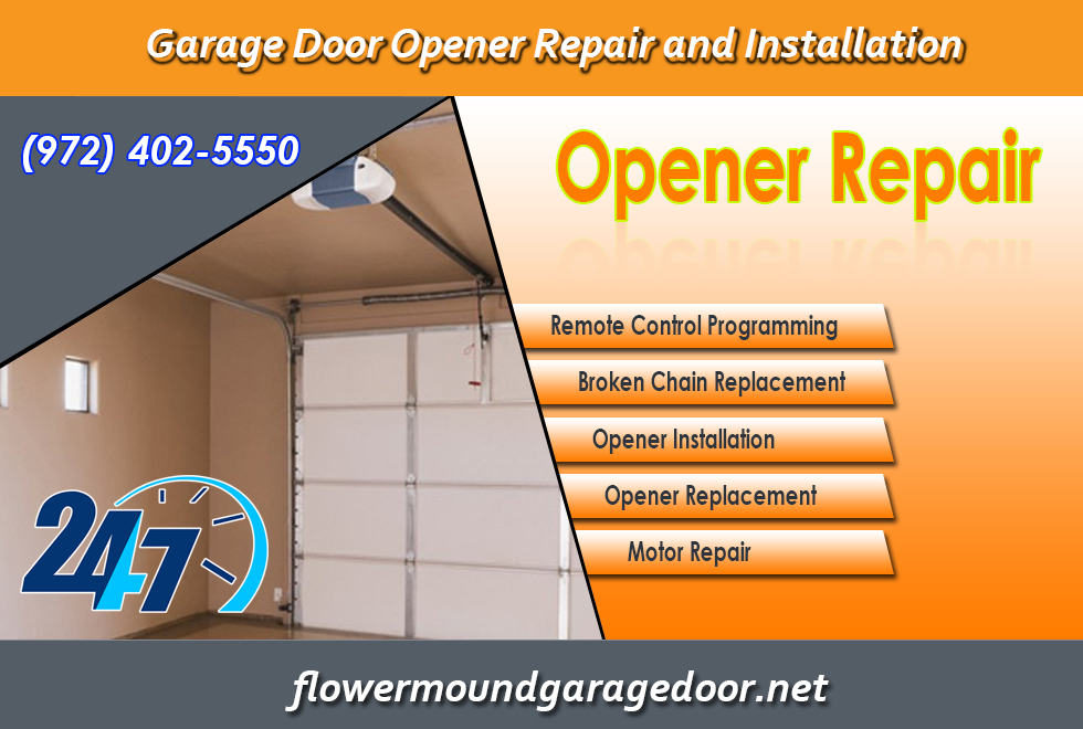 Residential Garage Door Opener System Repair ($25.95) | Flower Mound  Dallas, 75022 TX