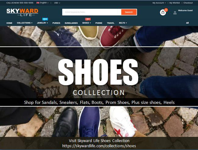 Skyward Life Store - Stylish Shoes Collections For Women & Men