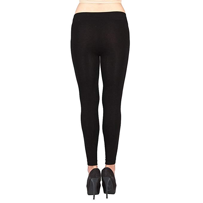 Save up to 65%!   Save up to 65% Soft Basic Black Leggings Size M at Amazon