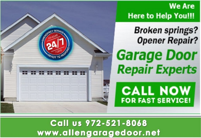 BBB A+ Rated Garage Door Spring Repair ($25.95) Allen, Dallas, 75071 TX