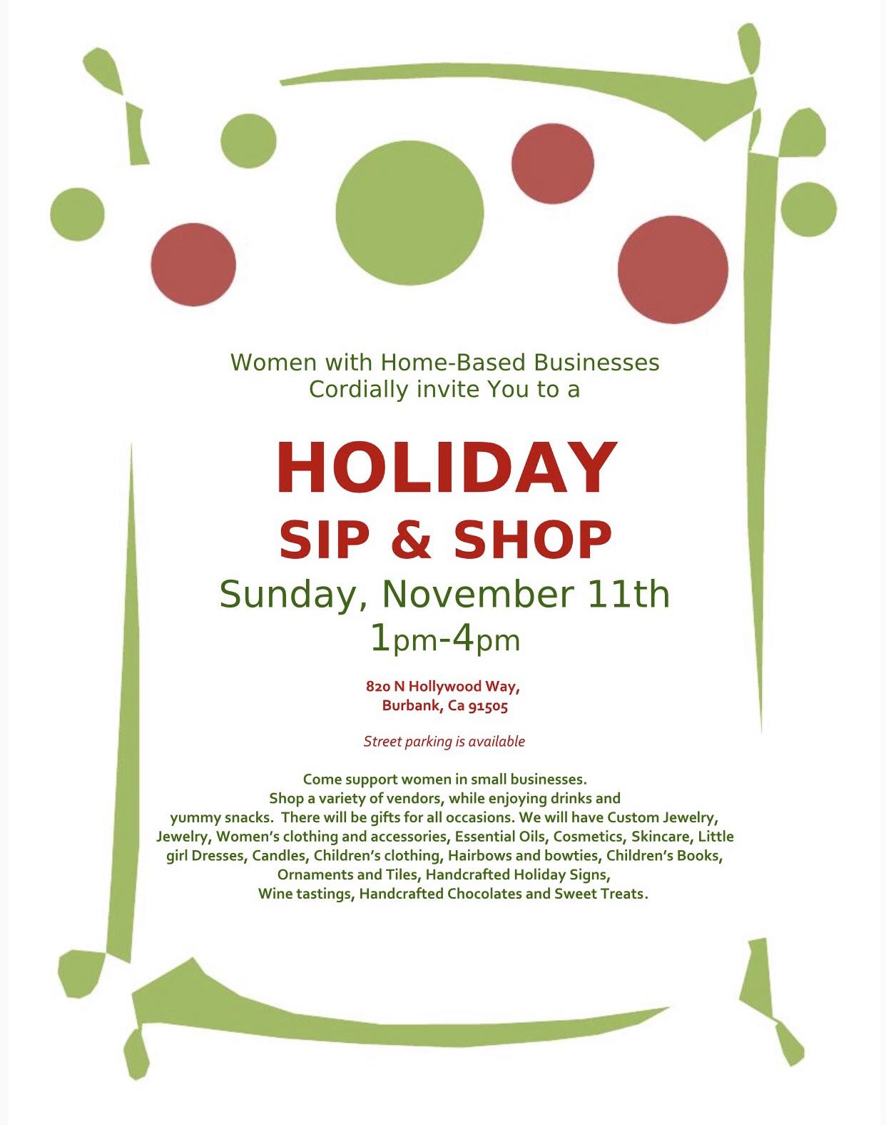 Holiday Sip 'N Shop