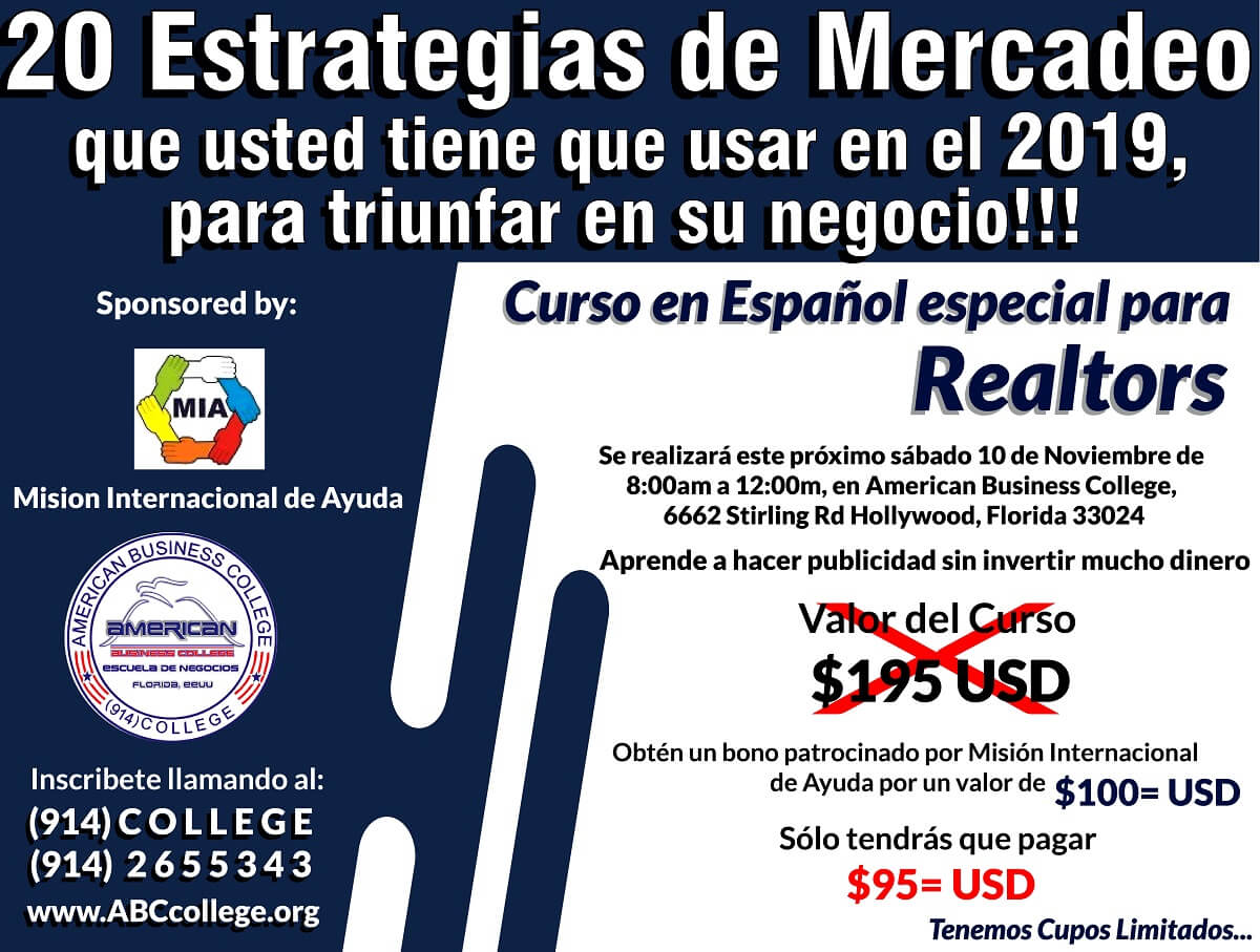 CURSO ESPECIAL PARA REALTORS EN FLORIDA-USA