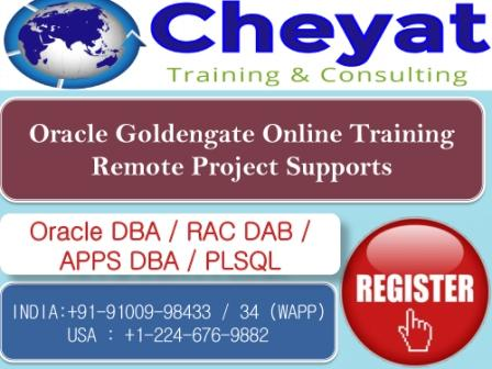 The Best Oracle 12c GoldenGate Online Training Institute- Cheyat Tech