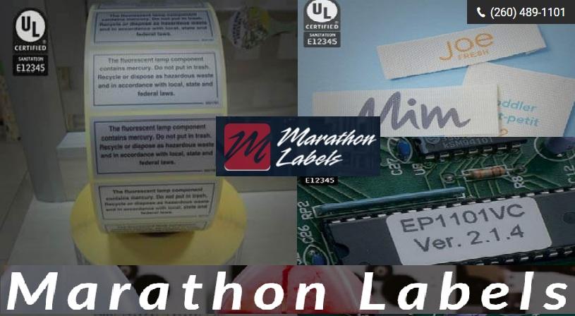 White Polyester Labels- Marathon Labels