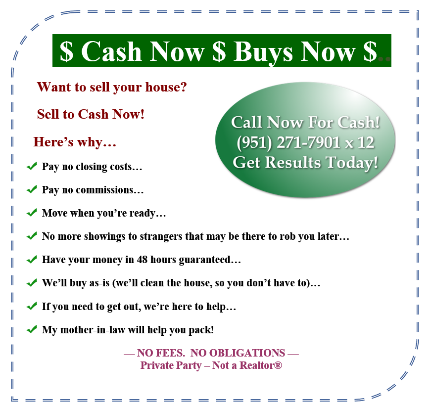 $ Cash Now $ Buys Now $