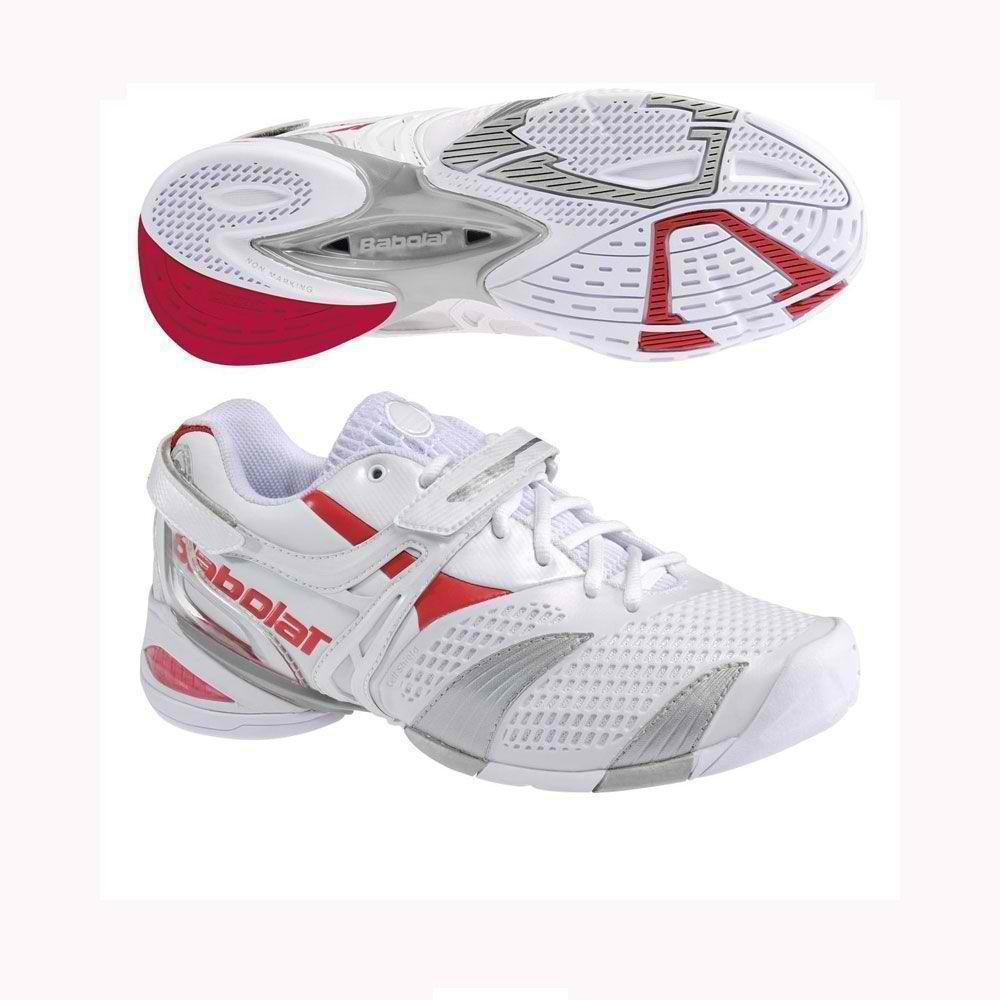 BABOLAT PROPULSE LADY 3 WOMENS 5.5 TENNIS SHOES WHITE/SILVER/RED