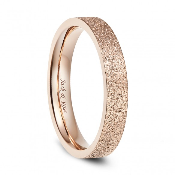 Big Sale Women's Stainless Steel Rings Rose Gold Flat Simple Style gift