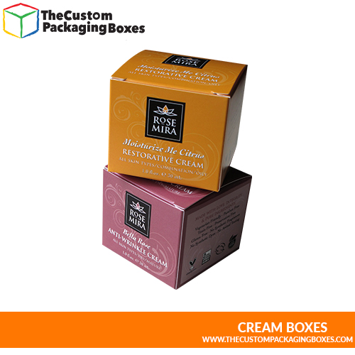 Cream boxes with all type of cardboard packaging