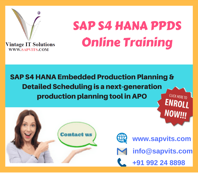 SAP PPDS Training | S4 HANA PPDS Online Training USA