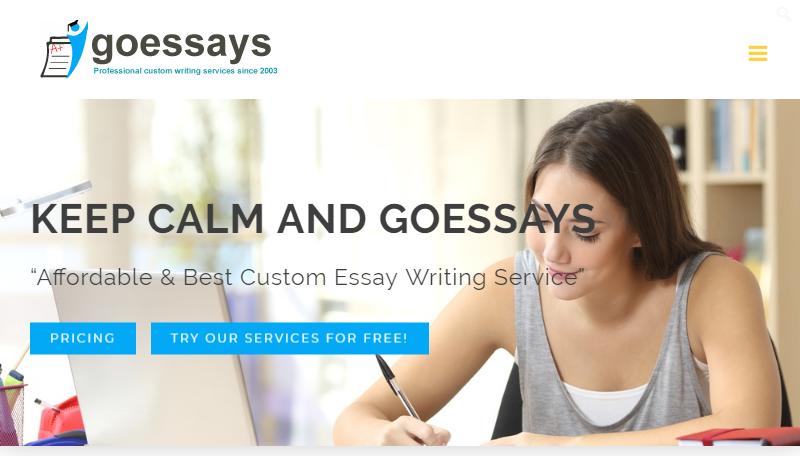 Buy Custom Essay Papers Online at Goessays.com