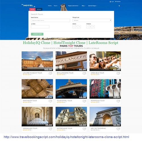 HolidayIQ Clone | HotelTonight Clone | LateRooms Script | Travel booking script