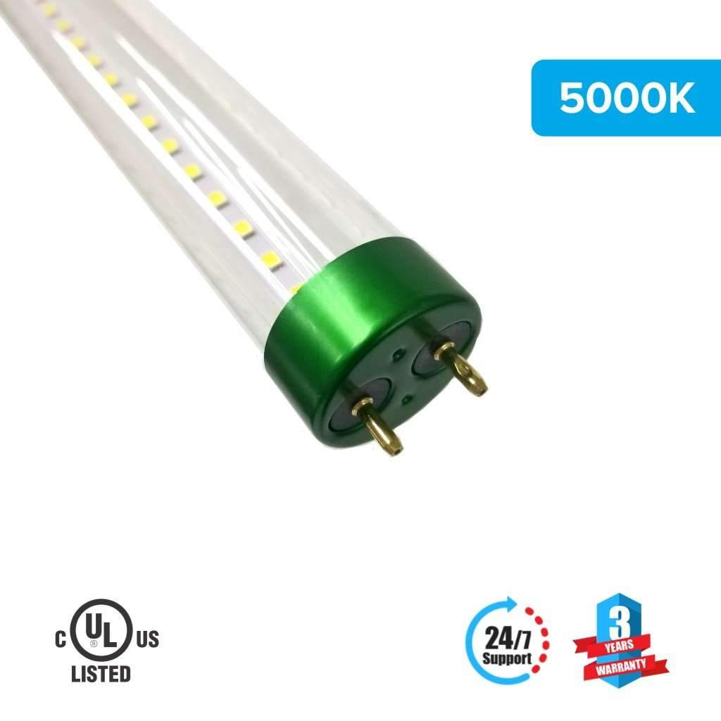 T8 4ft 18W LED Tube Glass 5000K Clear Single Ended power 1-Pack