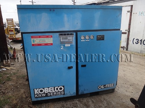 KOBELCO SERIES KNW OIL-FREE TWO-STAGE ROTARY SCREW AIR COMPRESSOR