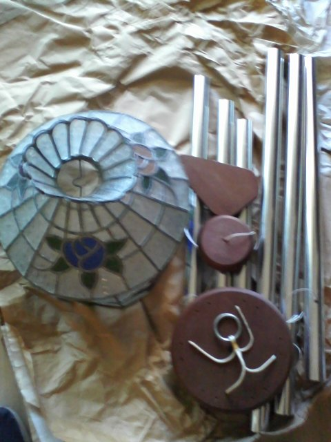 Selling Chimes and a Glass Tinted Lampshade