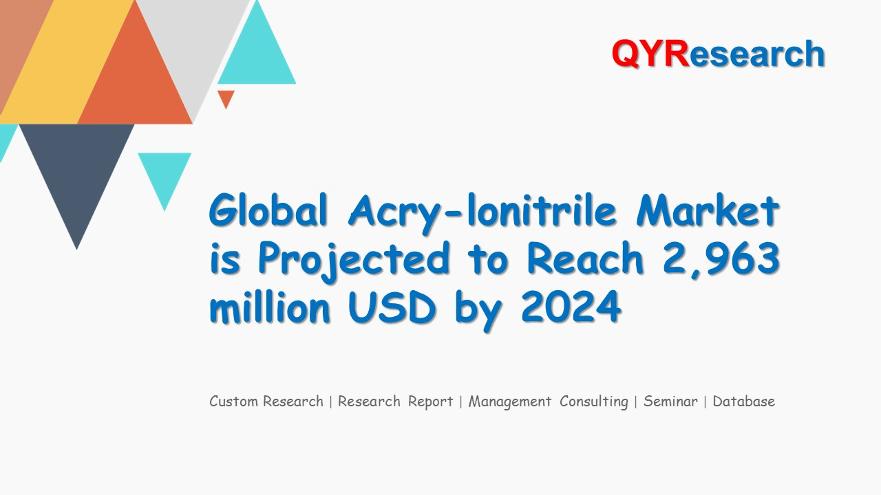 Global Acry-lonitrile Market is Projected to Reach 2,963 million USD by 2024