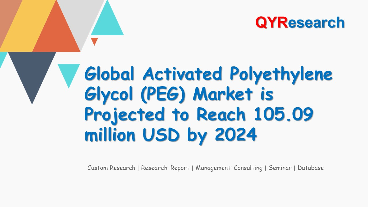 Global Activated Polyethylene Glycol (PEG) Market is Projected to Reach 105.09 million USD by 2024